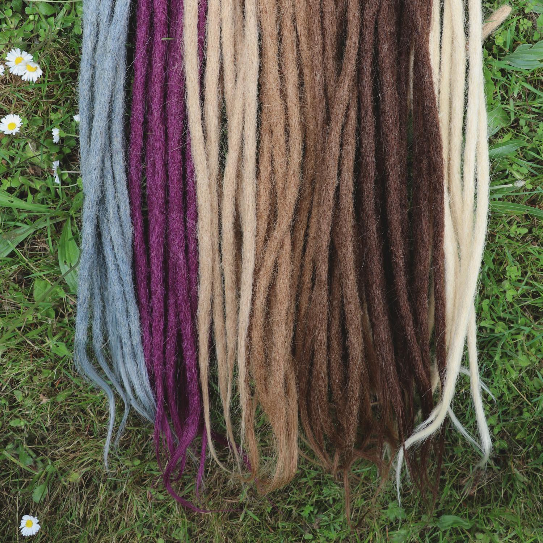 Dreadlocks tie hair wrap extension dreads jewelry Hair decoration silk dread wrap wrapped dreads Hair extension Dreadlock wrap
