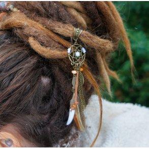 Dread Bead 11mm Smoky Quartz Dreadlock Bead Dread Jewelry Dread Pendant Hair Accessories Hair Accessories Jewelry Dreadspiral Festival Boho Gypsy