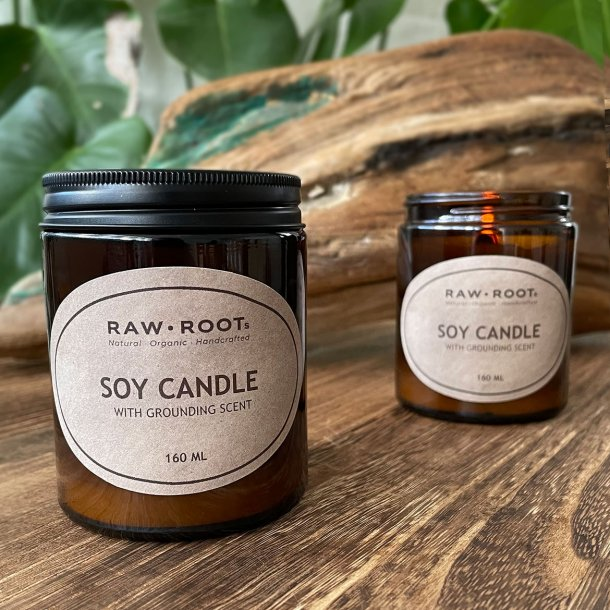 Eco Soy Candles with Grounding Scent 160 ML